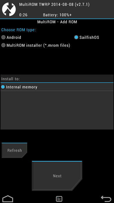 Adaptations/libhybris/Install SailfishOS for hammerhead